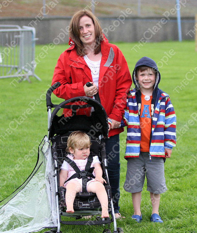 4/8/13Fiona, Conor and Amy Maxwell were enjoying the Cooraclare Field Day. Pic Tony Grehan