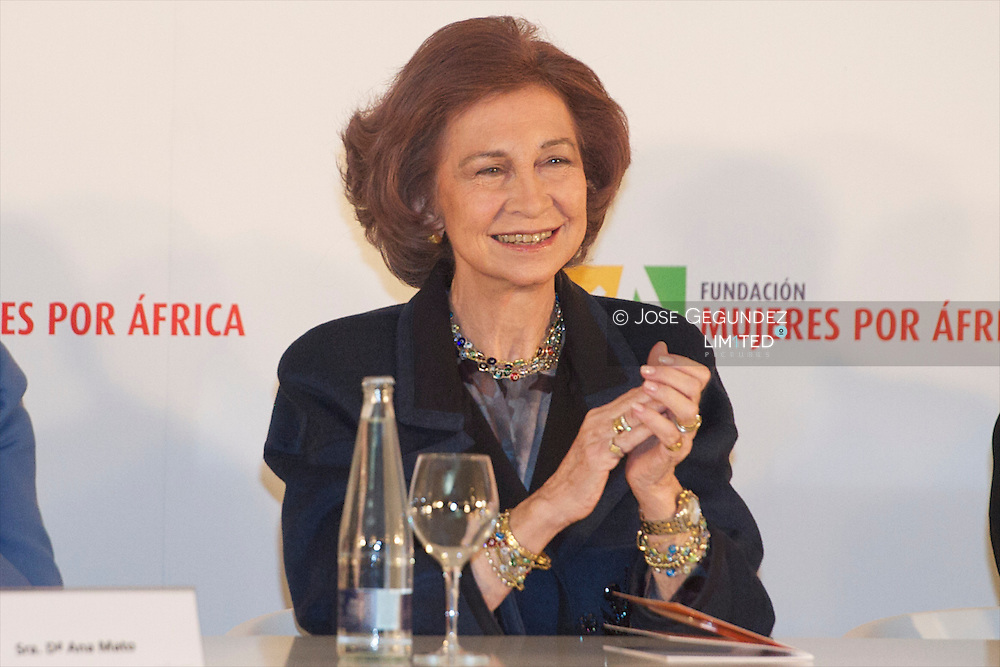 "Queen Sofia of Spain attends the Presentation Foundation ""Women in Africa"" (Mujeres por Africa) at Reina Sofia Museum in Madrid"