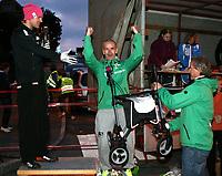Ski , Markensrennet 2011,<br /> Rulleski<br /> Gjøvik , <br /> 22.09.201<br /> <br /> Foto:Dagfinn Limoseth ,  Digitalsport<br /> Øystein Petteersen , Lillomarka Skiklubb og Åge Skinstad ga  Ulf Morten Aune en rullator i  50-års gave