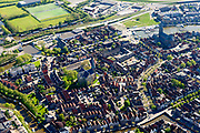 Nederland, Friesland, Harlingen, 07-05-2018; centrum Harlingen met Grote Kerk<br /> City centre Harlingen.<br /> <br /> luchtfoto (toeslag op standaard tarieven);<br /> aerial photo (additional fee required);<br /> copyright foto/photo Siebe Swart