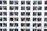 Laundry drying in the shoe manufacturer Aokang factory men's dormitory, Wenzhou, Zhejiang, China.