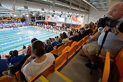 Spectators view from tribunes  at 2015 IPC Swimming World Championships -