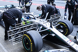 February 18, 2019 - Barcelona, Barcelona, Spain - Valtteri Bottas fo Finland with 77 of Mercedes AMG Petronas Motorsport W10 at the pitlane with big aerodinamic sensors during the Formula 1 2019 Pre-Season Tests at Circuit de Barcelona - Catalunya in Montmelo, Spain on February 18. (Credit Image: © Xavier Bonilla/NurPhoto via ZUMA Press)