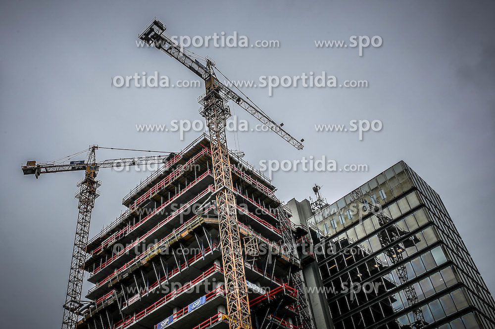 Construction site of new InterContinental Hotel, on October 21, 2016 in Ljubljana, Slovenia. Photo by Matic Klansek Velej / Sportida