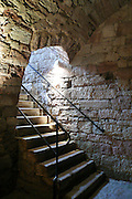 Treppe zum Gewölbe, Keller, Schloss Wilhelmsburg, Schmalkalden, Thüringen, Deutschland.|.stairs to cellar, Schloss Wilhelmsburg, Schmalkalden, Thuringia, Germany