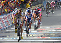 Sykkel<br /> Giro de Italia<br /> 14.05.2009<br /> Foto: Photonews/Digitalsport<br /> NORWAY ONLY<br /> <br /> Mayrhofen - Oostenrijk - wielrennen - cycling - radsport - cyclisme - 6e etappe - 100 jaar Giro di Italia - Bressanone-Mayrhofen - Edvald Boasson Hagen (Noorwegen/Team Columbia High Road)