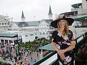 Longines Ambassador of Elegance and tennis legend Stefanie Graf takes in the view at Churchill Downs on Longines Kentucky Oaks Day, Friday, May 5, 2017, in Louisville, KY. Longines, the Swiss watch manufacturer known for its luxury timepieces, is the Official Watch and Timekeeper of the 143rd annual Kentucky Derby. (Photo by Diane Bondareff/AP Images for Longines)