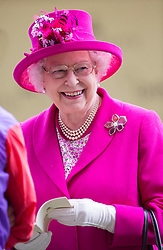 The Queen at Royal Ascot. Image ©Licensed to i-Images Picture Agency. 20/06/2014. Ascot, United Kingdom. Royal Ascot. Ascot Racecourse. Picture by i-Images