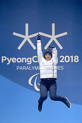 BOCHET_Marie, Para Alpine Skiing, ParaSkiAlpin, Podium at  the PyeongChang2018 Winter Paralympic Games, South Korea.