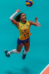 28-05-2019 NED: Volleyball Nations League Netherlands - Brazil, Apeldoorn<br /> <br /> Amanda Francisco #13 of Brazil