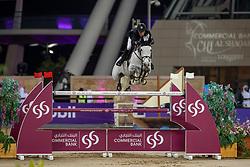 VAN DER VLEUTEN Maikel (NED), Dana Blue<br /> Doha - CHI Al SHAQAB 2020<br /> Commercial Bank CHI Al Shaqab Grand Prix presented by LONGINES<br /> Int. jumping competition over two rounds and jump-off (1.60 m)<br /> 29. Februar 2020<br /> © www.sportfotos-lafrentz.de/Stefan Lafrentz
