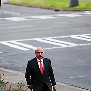 Soon after the vote appointing him as Mayor Cannon's successor, NC State Senator Dan Clodfelter made his way to the government center in Uptown to address the media.