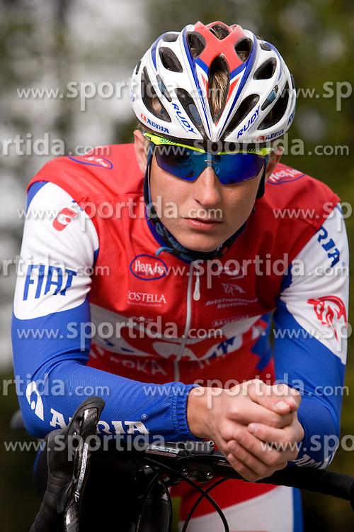 Slovenian rider Marko Kump of Adria Mobil Team  at fotosession, on April 22, 2010, in Novo mesto, Slovenia.  (Photo by Vid Ponikvar / Sportida)