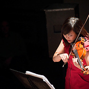 December 16, 2011 - Brooklyn, NY : Violinist Jennifer Choi of Wadada Leo Smith's Silver Orchestra performs during a concert in celebration of Leo's 70th birthday at Roulette in Brooklyn on Friday night. CREDIT: Karsten Moran for The New York Times