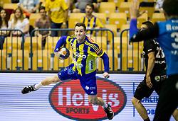 Miha Zarabec of Celje during handball match between RK Celje Pivovarna Lasko and RK Gorenje Velenje in Last Round of 1. Liga NLB 2016/17, on June 2, 2017 in Arena Zlatorog, Celje, Slovenia. Photo by Vid Ponikvar / Sportida