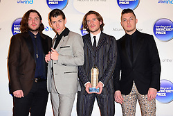 Mercury Prize. <br /> Arctic Monkeys attends the Barclaycard Mercury Prize at The Roundhouse, London, United Kingdom. Wednesday, 30th October 2013. Picture by Nils Jorgensen / i-Images