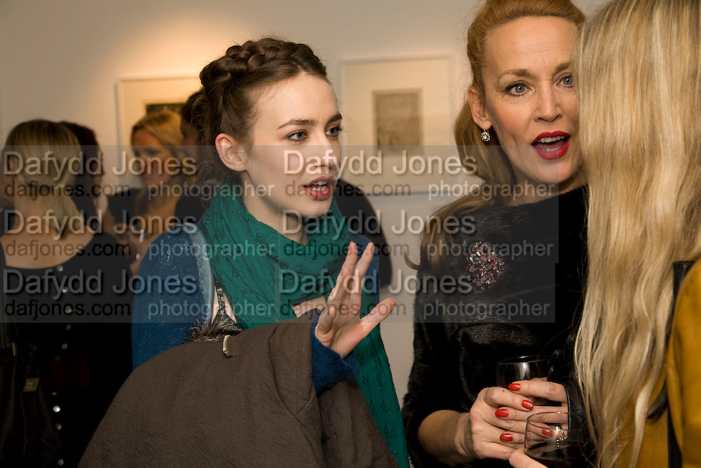 ELIZABETH JAGGER; JERRY HALL; , Elaine Ferguson. ' Texas Blues'. Scream Gallery. Bruton St. London. 11 December 2008 *** Local Caption *** -DO NOT ARCHIVE -Copyright Photograph by Dafydd Jones. 248 Clapham Rd. London SW9 0PZ. Tel 0207 820 0771. www.dafjones.com<br /> ELIZABETH JAGGER; JERRY HALL; , Elaine Ferguson. ' Texas Blues'. Scream Gallery. Bruton St. London. 11 December 2008