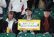 Where is Germany? during the Rugby World Cup Pool A match between England and Australia at Twickenham, Richmond, United Kingdom on 3 October 2015. Photo by Matthew Redman.
