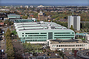 Nederland, Nijmegen, 23-10-2017Wijk Heyendaal met bebouwing van de betafaculteit, het huygensgebouw.. de ru, radboud universiteit, campus .Foto: Flip Franssen