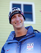 US Olympic Bobsled driver John Napier waves to the crowd at a celebratory parade honoring North Country Winter Olympic Athletes in Saranac Lake, NY. (Photo/Todd Bissonette - http://www.rtbphoto.com