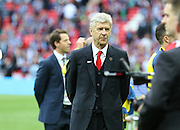 Arsenal Manager Arsene Wenger during the The FA Cup match between Arsenal and Aston Villa at Wembley Stadium, London, England on 30 May 2015. Photo by Phil Duncan.