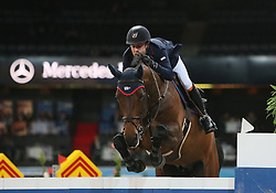23.11.2014, Hans-Martin-Schleyer-Halle, Stuttgart, GER, FEI World Cup, Stuttgart German Masters, Grosser Preis von Stuttgart, im Bild Maikel van der Vleuten (Niederlande) auf VDL Groep Verdi TN N.O.P. // during the Mercedes German Master of the FEI World Cup at the Hans-Martin-Schleyer-Halle in Stuttgart, Germany on 2014/11/23. EXPA Pictures &copy; 2014, PhotoCredit: EXPA/ Eibner-Pressefoto/ Fudisch<br /> <br /> *****ATTENTION - OUT of GER*****