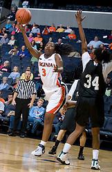Virginia Cavaliers G Paulisha Kellum (3)..The Virginia Cavaliers women's basketball team faced Team Concept in an exhibition basketball game at the John Paul Jones Arena in Charlottesville, VA on November 5, 2007.