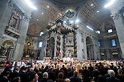 Vatican City jan 1st 2015, holy mass for the solemnity of Mary, the Mother of God. In the picture