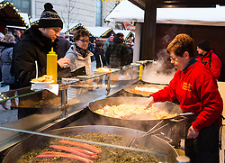 Traditional food stall at Berlin Christmas Market, Germany