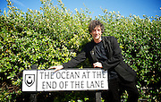"""Neil Gaiman <br /> author<br /> of """"The Ocean At The End of the Lane""""<br /> has a road named after his book in Southsea, Portsmouth, Hampshire, Great Britain. <br /> 18th August 2013 <br /> <br /> <br /> Neil Gaiman <br /> <br /> with Cllr. Lynne Stagg Lord Mayor of Portsmouth <br /> <br /> and with <br /> <br /> Sam Cox - the Portsmouth Poet Laureate<br /> <br /> and later interviewed on stage at Guildhall Portsmouth by Dom Kippin and a Dalek!<br /> <br /> <br /> <br /> <br /> Photograph by Elliott Franks"""