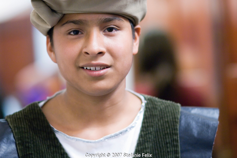 ELL student in costume for Shakespeare play performance