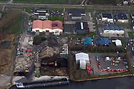 Luchtfoto Milieustraat Franeker