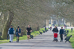 ©Licensed to London News Pictures 31/03/2020  <br /> Greenwich, UK. People get out of the house from Coronavirus lockdown to exercise in Greenwich Park, London. The Prime Minister Boris Johnson has asked people to stay at home to help in the fight against Covid-19 and to only go out for essential reasons. credit:Grant Falvey/LNP