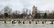 Putney, GREAT BRITAIN, both crews on the starting line 2010  Varsity/Oxford University  vs Leander Club, raced over the championship course. Putney to Mortlake, Sat. 20.03.2010. [Mandatory Credit, Peter Spurrier/Intersport-images]
