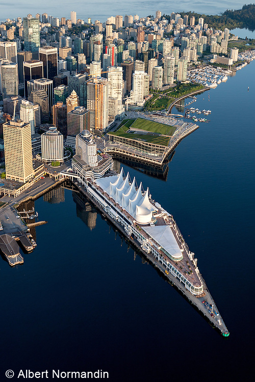 Aerial views of the city of Vancouver, British Columbia