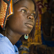 GOREÉ ISLAND (Senegal). 2007. A girl in a shop in Goreé island