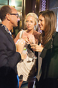 GIANLUCA LONGO; SOPHIA HESKETH; AMANDA SHEPPARD, Dinner to celebrate the opening of the first Berluti lifestyle store hosted by Antoine Arnault and Marigay Mckee. Harrods. London. 5 September 2012.