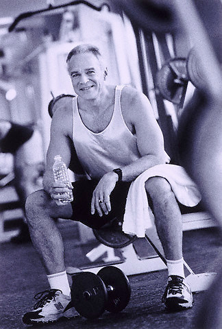 Portrait in the gym --- Image by © Jim Cummins/CORBIS