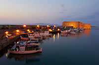 Grèce, Crète, Héraklion, le port vénitien,la forteresse de Rocca al Mare // Greece, Iraklion, the Venetian fortress of Rocca al Mare and port