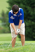 September/26/11:  MCHS Golf.  Bull Run District Tournament, with Madison, Strasburg, William Monroe, Manassas Park, Central Woodstock, George Mason, and Clarke.  Greene Hills Country Club.  The Golf team participated in the Bull Run District Championship yesterday at the Greene Hills Golf club and finished in 3rd place in the 7 team tournament. Austin Kelliher shot an 18 hole round of 79 to lead the Mountaineers. Kelliher finished 5th overall and was named 1st Team All District for his performance.  Collin Tucker (83) finished 8th overall and was named to 2nd Team All District. Kevin Wells (89), and Jack Kemp (91) were the other scorers for Madison. Ryan Taylor (91) and Jake Sadler (92) also participated in the tournament. Kelliher, Tucker and Wells also qualified for the Region B Tournament at Falling River Golf Course in Appomattox on October 3rd.<br /> <br /> William Monroe won the tournament with a team score of 310. Central Woodstock finsihed 2nd with a 341 and Madison was 3rd with a 342. Strasburg (366), Clarke County (369), Manassas Park (375) and George Mason (408) were the other teams participating.