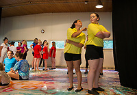 Dress rehearsal for Alice in Wonderland with SKYT at Gilford Methodist Church.  Karen Bobotas for the Laconia Daily Sun
