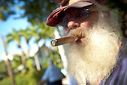 Key West character smoking a cigar Key West, Florida.