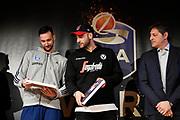 Moraschini Riccardo, Pietro Aradori<br /> LBA AWORDS 2018/19<br /> Basket Serie A LBA 2018/2019<br /> Premiazioni Sala Buzzati - Rcs<br /> Milano 13 May 2019<br /> Foto Mattia Ozbot / Ciamillo-Castoria