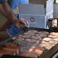 Hotdogs and Hamburgers were available for attendees of Saturday's 8th annual Fourth of July celebration in Guntown