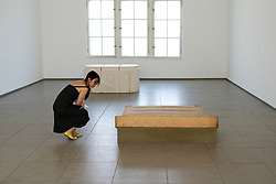 Rachel Whitehead art installation Untitled, 1991 at Hamburger Bahnhof art museum in Berlin .Editorial Use Only.