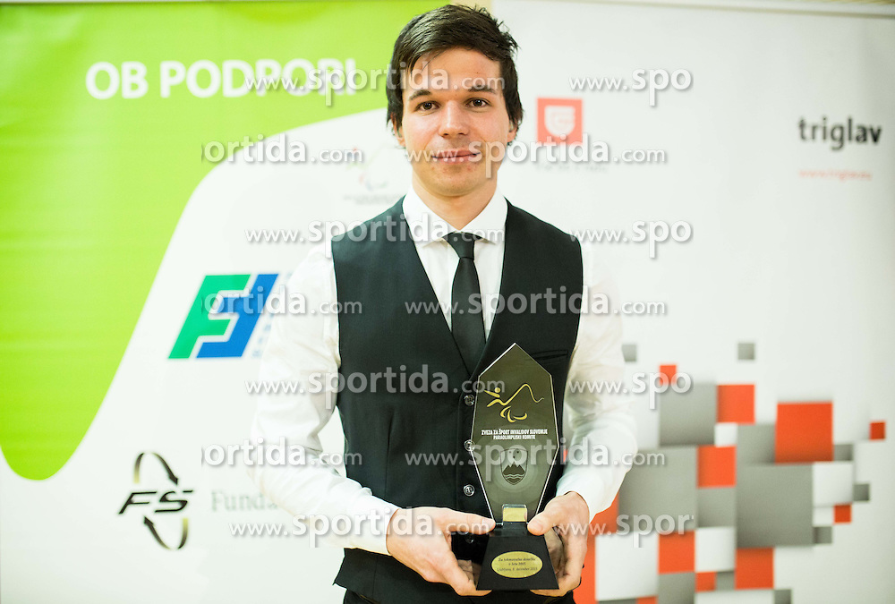 Tadej Enci during Slovenian Disabled Sports personality of the year 2015 event, on December 8, 2015 in Austria Trend Hotel, Ljubljana, Slovenia. Photo by Vid Ponikvar / Sportida