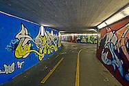 Graffiti on highway underpass, Schaffhausen, Switzerland