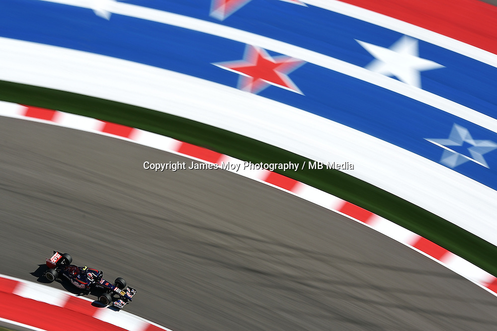 Daniil Kvyat (RUS) Scuderia Toro Rosso STR9.<br /> United States Grand Prix, Saturday 1st November 2014. Circuit of the Americas, Austin, Texas, USA.