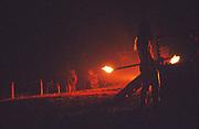 Fire Dancers, Glastonbury, 1992.