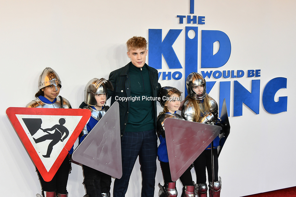 Tom Taylor Arrives at The Kid Who Would Be King on 3 February 2019 at ODEON Luxe Leicester Square, London, UK.